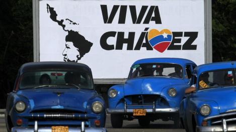 Un Cartel a favor de Hugo Chavez en La Habana